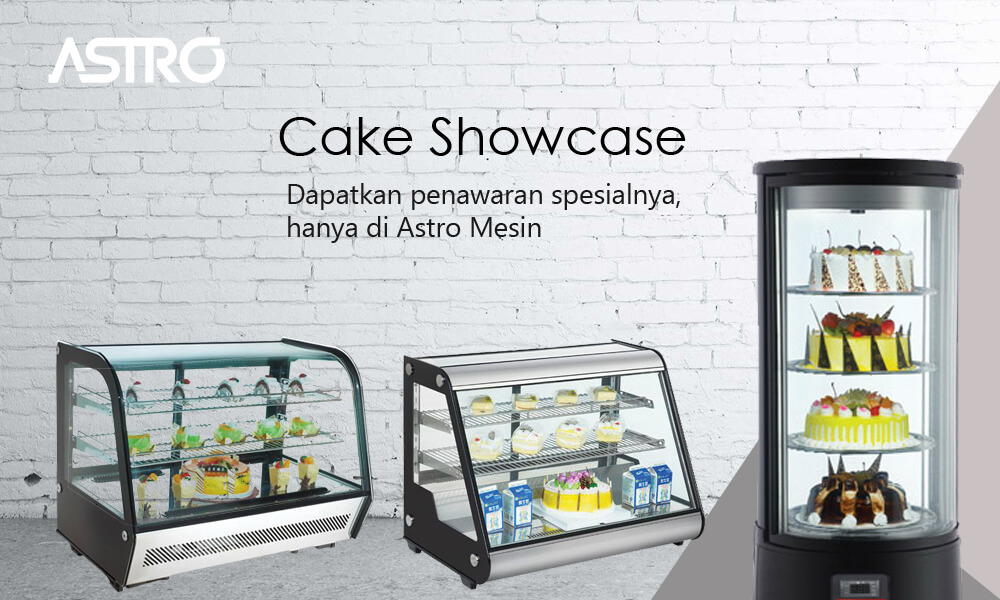 Mesin Cake Showcase