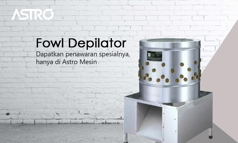Banner Mesin Fowl Depilator - Mesin Pencabut Bulu Ayam