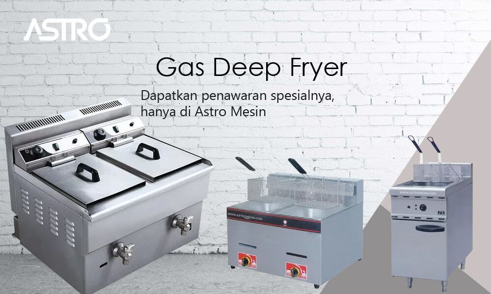Mesin Gas Deep Fryer