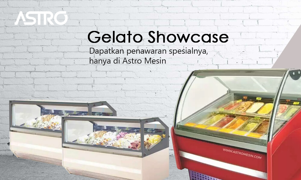 Mesin Gelato Showcase