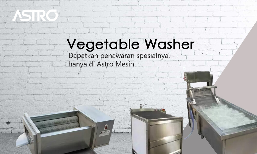 Banner Mesin Vegetable Washer - Mesin Pencuci Sayur